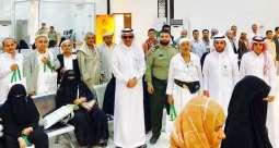 بريد نجران يستقبل ضيوف خادم الحرمين الشريفين من الحجاج اليمنيين بالورود والهدايا