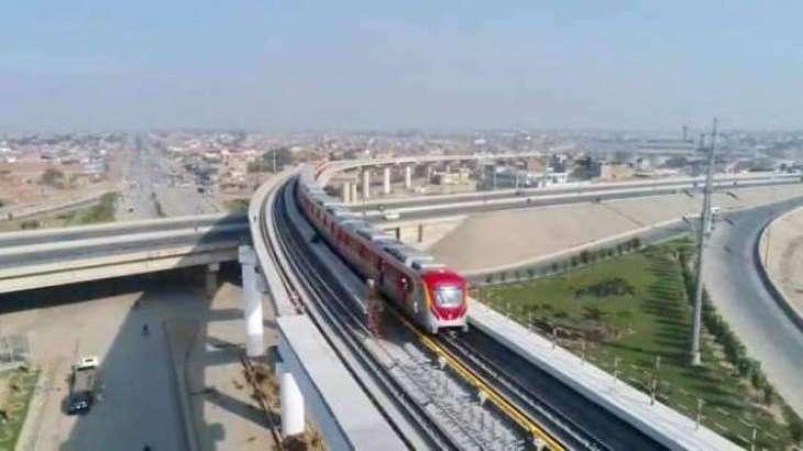 اورنج لائن میٹر و ٹرین منصوبے وچ دیر،7,6مہینے ہور لگن گے