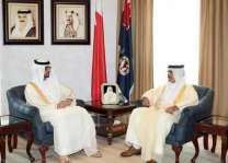 وزير الداخلية البحريني يستقبل سفير الدولة