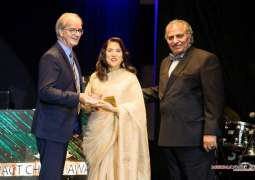 Usman, Samina Peerzada receive Best Iconic Couple Award in Canada