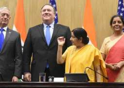 US, Indian Officials Sign Defense Agreement During 2+2 Ministerial - Joint Statement