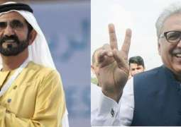 نائب الرئيس ورئيس مجلس الوزراء لدولة الإمارات العربية المتحدة يهنئ عارف علوي بتوليه رئاسة باكستان
