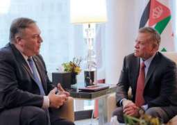 Jordanian King, US Secretary of State discuss developments in peace process