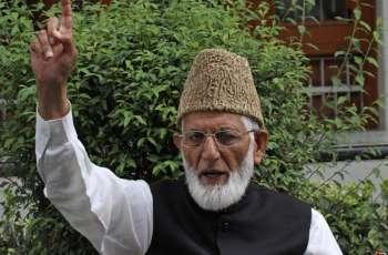 Democratic, peaceful formula only way for resolving Kashmir dispute: Syed Ali Gilani