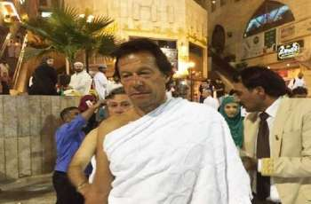 Prime Minister performs Umrah; prays for prosperity of Pakistan; Kaaba doors opened for Imran Khan