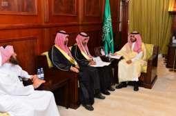 نائب أمير حائل يستقبل مدير إدارة كهرباء المنطقة