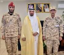 أمير منطقة نجران يقلد الأمير سلمان بن عبدالله رتبته الجديدة
