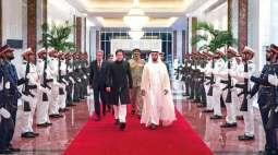 رئیس الوزراء الباکستاني عمران خان یصل الي ابوظھبي في زیارة الامارات المتحدة