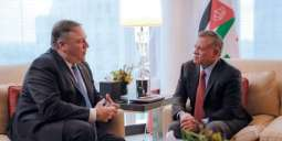 Jordanian King, US Secretary of State discuss developments in peace process