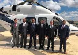 وفد من شرطة أبوظبي يزورشركة أمريكية لصناعة الطائرات