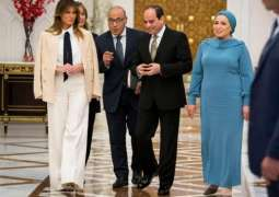 Egyptian President Receives Melania Trump in Cairo - Statement