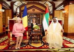 محمد بن راشد يستقبل رئيسة الوزراء الرومانية