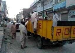Rawalpindi Cantonment Board confiscates six truckload goods of encroachers