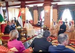 محمد بن راشد يستقبل رئيس وزراء بلغاريا