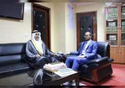 وزير الشؤون الاسلامية الموريتاني يلتقي سفير الدولة