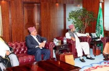 وزير الشؤون الإسلامية يستقبل أمين عام المركز الإسلامي في النيبال