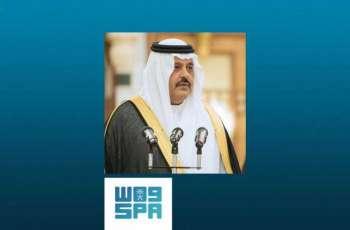 أمير منطقة حائل : المملكة قيادة وشعبا أثبتت أنها مع الحق ومثال للإنسانية والعدالة