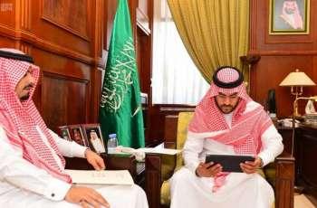 نائب أمير حائل يستقبل مدير الإدارة العامة للأحوال المدنية بالمنطقة