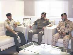 Ahmed bin Tahnoun receives Chairman of National Military Service of Kuwaiti Ministry of Defence