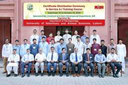 AJK In-Service Livestock Professionals complete one month Refresher Training Course on Artificial Insemination at UVAS