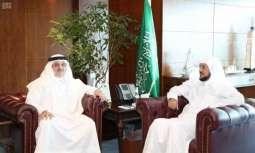وزير الشؤون الإسلامية يستقبل سفير خادم الحرمين الشريفين  لدى باكستان