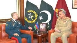 رئيس أركان الجيش الباكستاني يلتقي قائد حرس الحدود الآذربيجاني