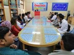 جی سی یونیورسٹی فیصل آباد دے شعبہ پنجابی ولوں ادبی نشت دا انعقاد