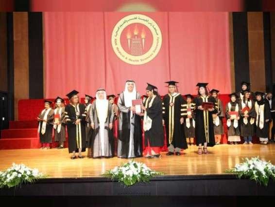 سعود بن صقر يشهد حفل تخريج طلبة جامعة رأس الخيمة للطب والعلوم الصحية