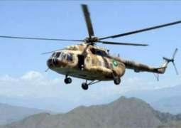 پاک فوج دے ہیلی کاپٹردی اکبر آباد وچ ہنگامی لینڈنگ