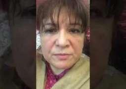 ایم این اے اسماء حدید نے اپنے خلاف ہون والے پراپیگنڈے اُتے ویڈیو پیغام جاری کردتا