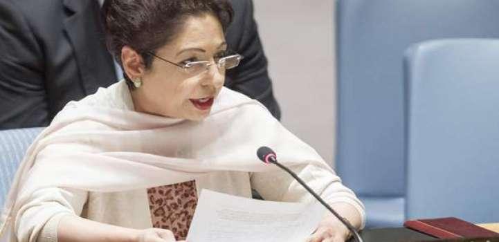 اقوام متحدہ ٹی پاکستان نا آخبتی مندوب مندوب ڈاکٹر ملیحہ لودھی نا جنرل اسمبلی نا کمیٹی راجی، ..