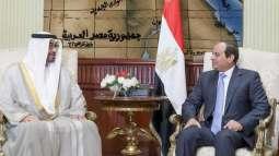 Egyptian President receives Hamed bin Zayed in Sharm El Sheikh