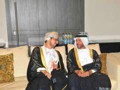 سرور بن محمد وعبدالله بن زايد يحضران حفل سفارة عمان بمناسبة العيد الوطني الـ 48 للسلطنة