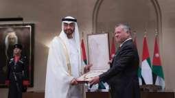 King of Jordan grants Mohamed bin Zayed the Order of Hussein ibn Ali