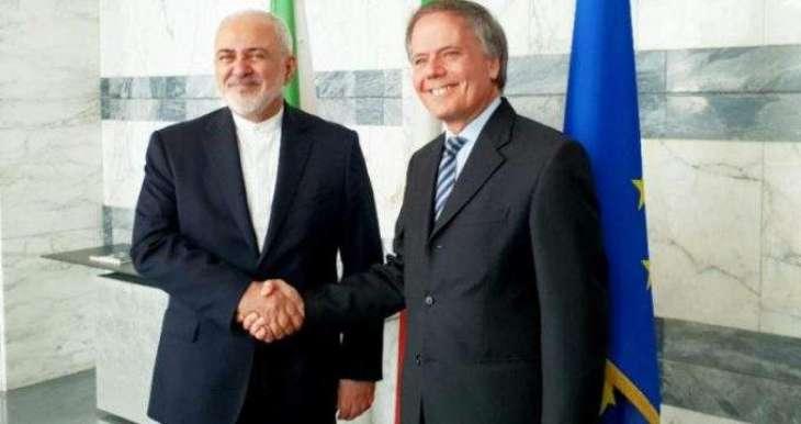 Iranian, Italian Top Diplomats Discuss EU Mechanism to Dodge US Sanctions