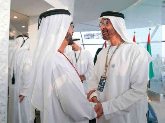 <span>Mohammed bin Rashid, Mohamed bin Zayed, Mohammed bin Salman witness closing of Formula 1 Grand Prix in Abu Dhabi</span>