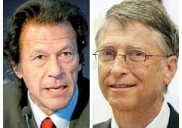 وزیراعظم عمران خان تے بل گیٹس وچکار ٹیلی فونک رابطہ