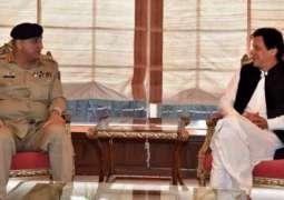وزیر اعظم عمران خان نال آرمی چیف جنرل قمر جاوید باجوہ دی ملاقات