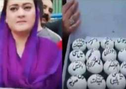 PML-N women protest with 'eggs' outside Accountability Court