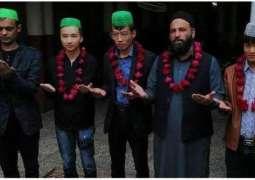 سبحان اللہ!چین توں آئے 4چینی باشندیاں نے اسلام قبول کرلیا