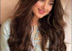 Sajal Ali shares her look from 'Alif'