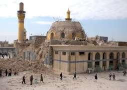 عراق - د داعش شهيد كړي تاريخي جومات بيا ودانولو كار د يونېسكو په مرسته پیل شو