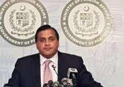 پاکستان امریکا طالبان مذاکرات اتے افغانستان امن و مصالحت کیتے ذمہ د ارانہ کردار ادا کیتے،ترجمان دفتر خارجہ ڈاکٹر محمد فیصل دی ہفتہ وار پریس بریفنگ