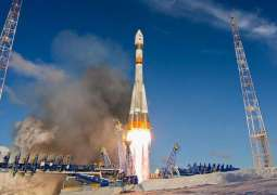 The Soyuz-2.1a rocket with two Russian and 26 foreign satellites lifted off