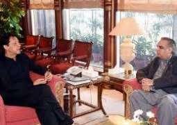 وزیر اعظم عمران خان نال گورنر سندھ عمران اسماعیل دی ملاقات