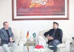 سید ذوالفقار عباس بخاری دی پاکستان اچ جرمنی دے سفیر مارٹن کوبلر نال ملاقات