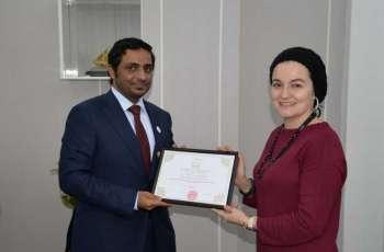 <span>إنجازات الإمارات بمجال حقوق الإنسان في محاضرة بأستانا</span>