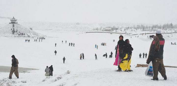 Heavy snowfall blanketed upper parts of Hazara division