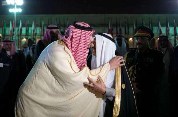 أمير دولة الكويت يغادر الرياض