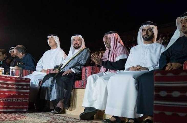Sultan Al Qasimi attends opening of Sharjah Desert Theatre Festival